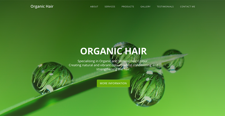 Organic Hair website